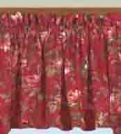 Lined Swag Insert Valance - Climbing Roses