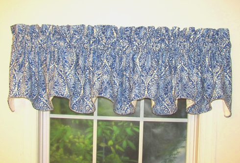 Lola Indigo  Scalloped Valance