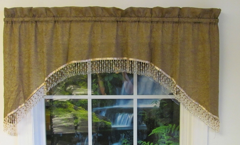 Crushed Satin Swag Valance (CLEARANCE)