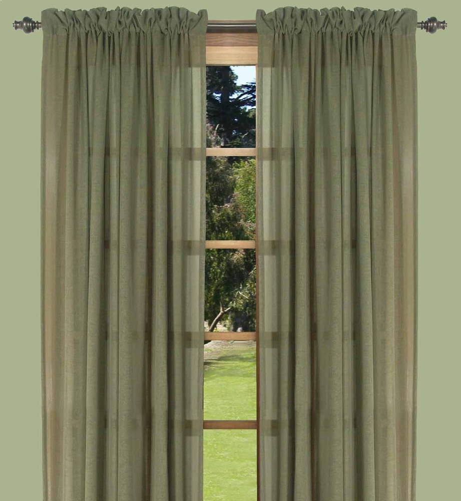 Lucerne Semi Sheer Two Way Rod Pocket Curtain Panels