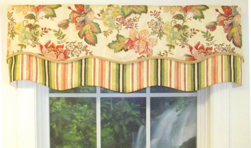 Luxuriance Multi Double Scallop Valance - Close Out