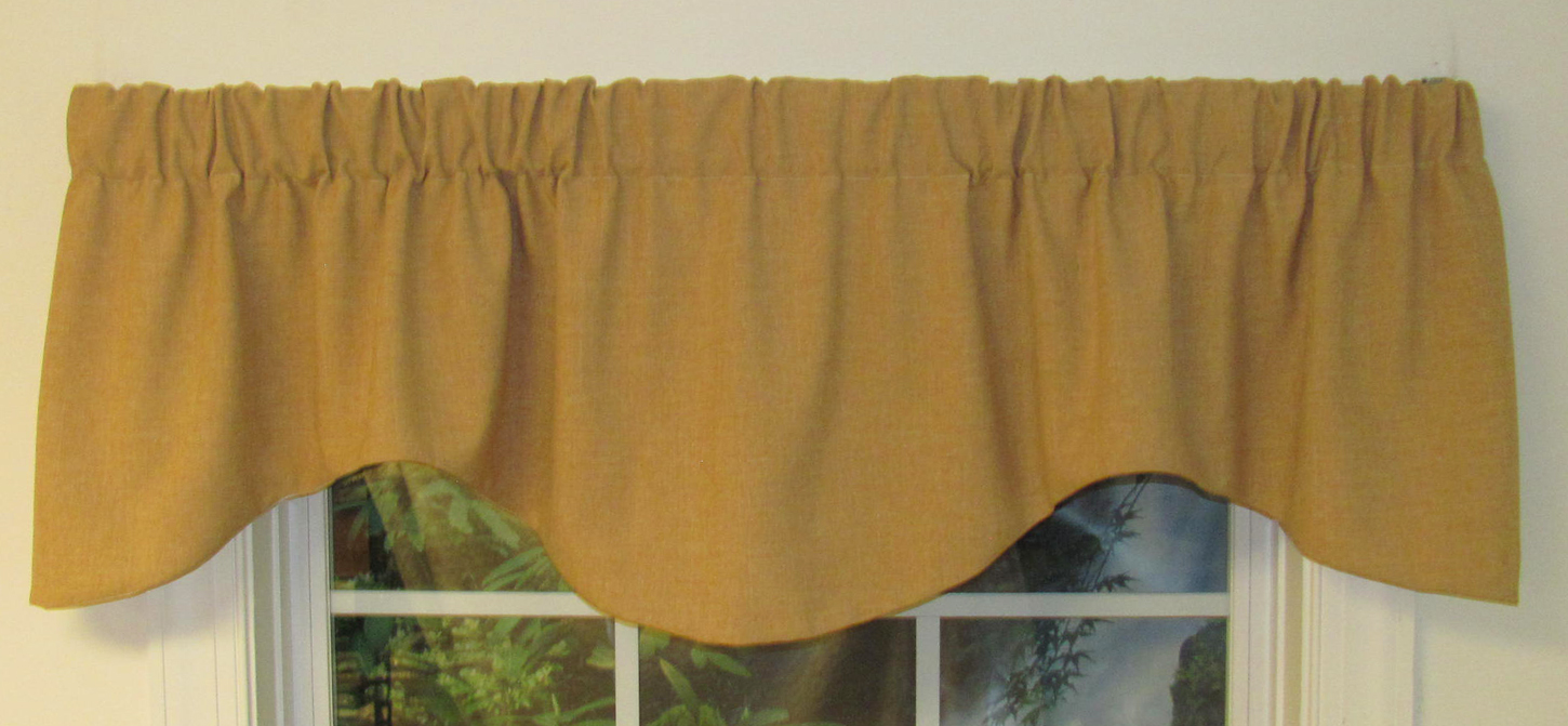 M Shaped Valance Claiborne Gold Clearance
