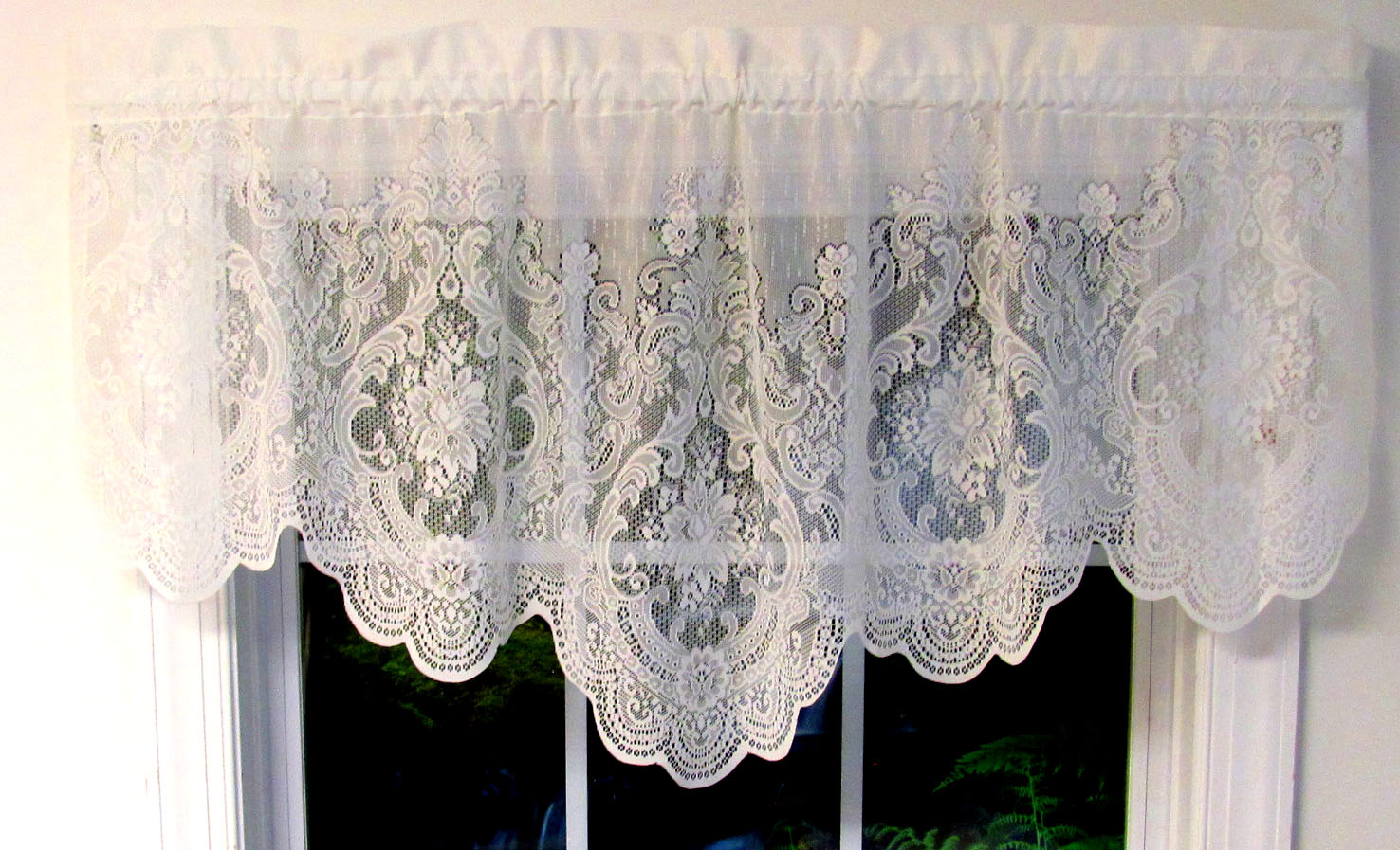 windsor lace curtains natural united jabot swag