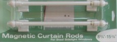 """Magnetic Curtain Rods for Sidelights (Pair) 8.75"""" - 15.75"""""""