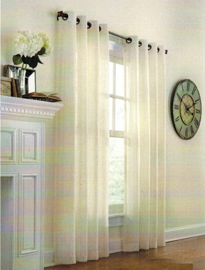 Marlow Stripe  Semi Sheer Grommet Panel