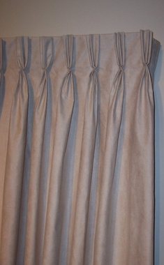 "Media Faux Suede Insulated Pinch Pleated Drapery Pair 96''W x 84""L  - CLEARANCE"