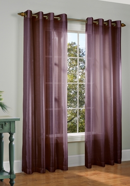 Milano Faux Silk Grommet Curtain Panel