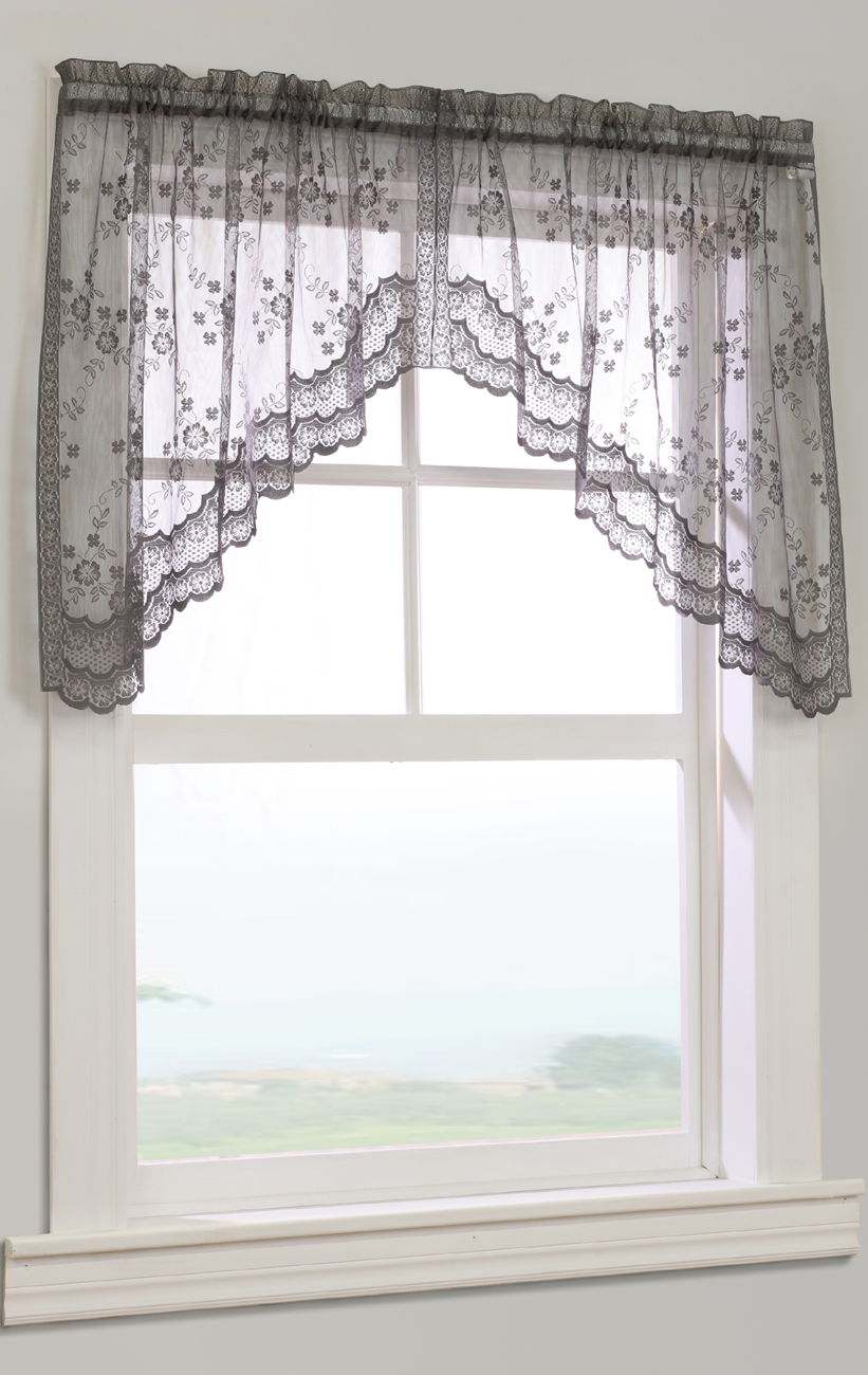 scarf curtains full sheer pair window home products or valance designs beige warm of