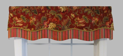 Noblesse Ruby Double Scallop Valance - SOLD OUT