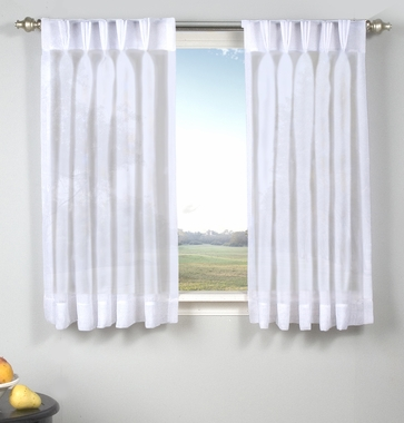 Palm Beach Semi Sheer Back Tab Panel with Pinch Pleated Front (Pair)