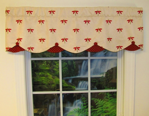 Petticoat valance suede dragonfly - Boutique free valence ...
