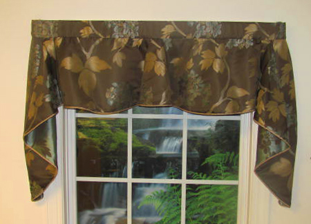 Hydrangea Portifino Valance  - Sold Out