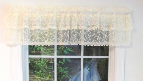 Priscilla Layered Lace Ruffled Tailored Valance