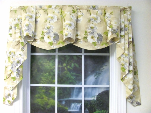Tree Blossom Natural Regal Valance