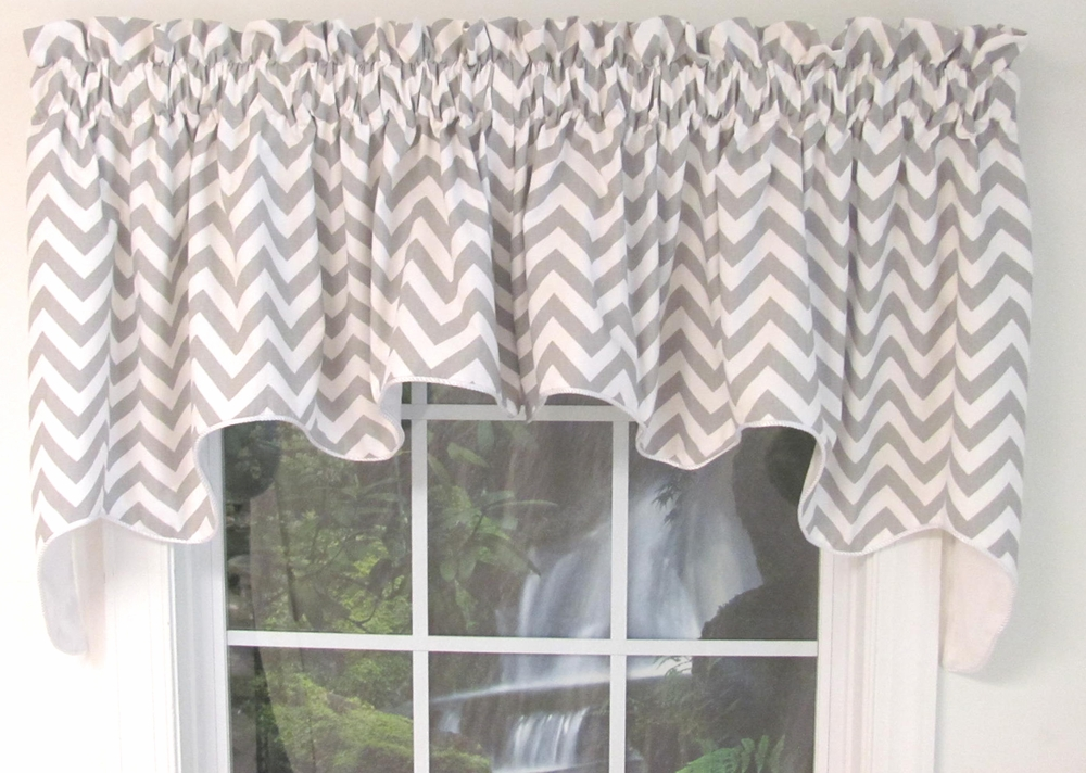 Reston Duchess Valance Chevron Thecurtainshop Com