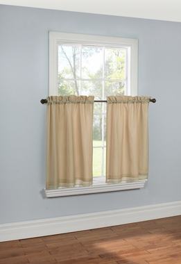 Rhapsody Lined Tier Curtain Pair - Thermavoile