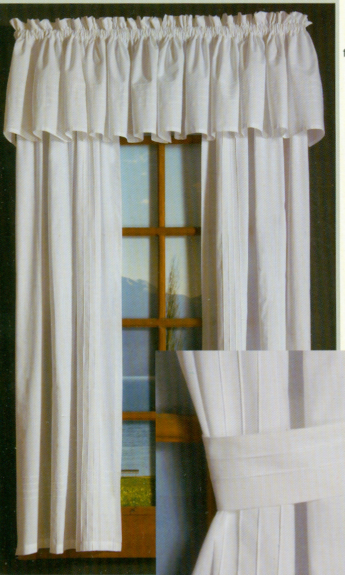 How to make rod pocket curtains - Pintuck Rod Pocket Curtain Pair
