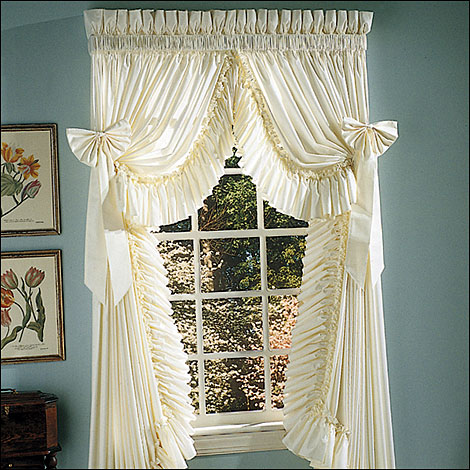 Ruffled Elegance Country Style Curtains Ruffled