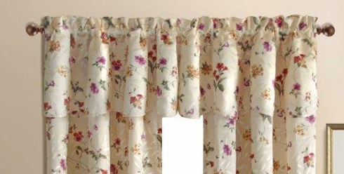 Whitfiled Floral Scalloped Valance