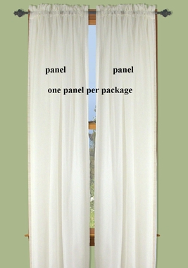 Oyster Bay Sheer Voile Curtain Panel