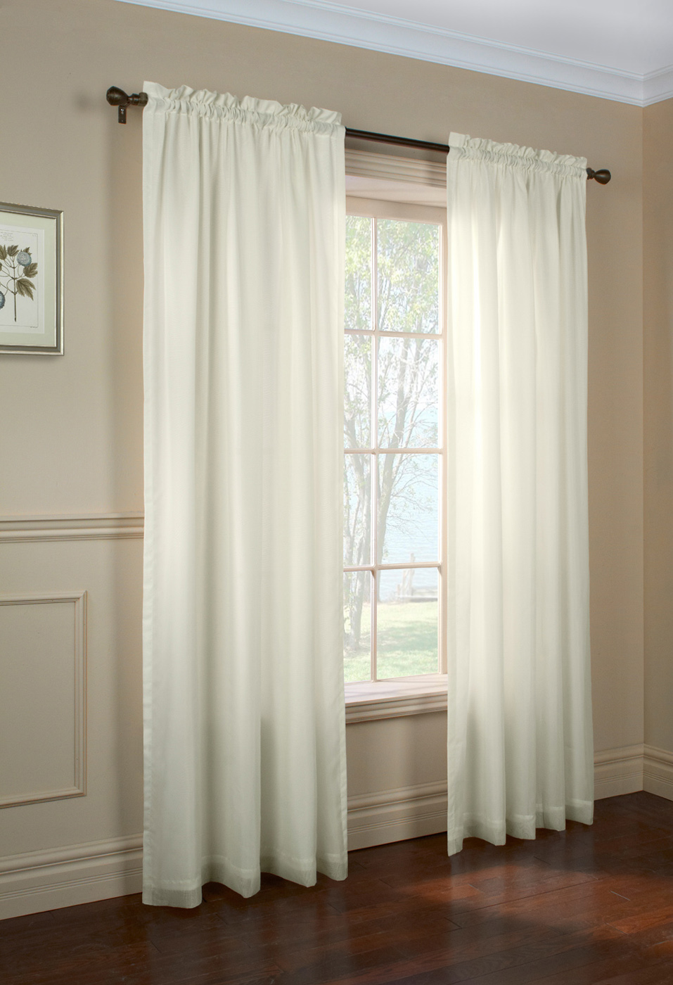 Rhapsody sheer voile curtain panels for Sheer panel curtain ideas