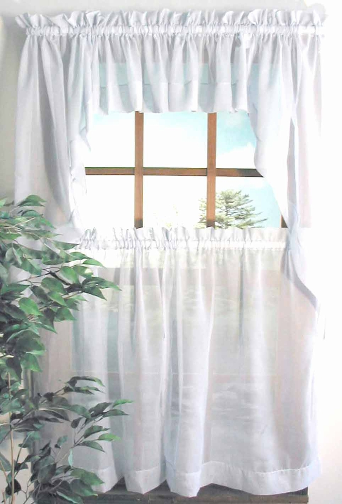 Oyster Bay Sheer Voile Tier Panel