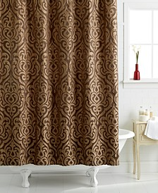 Shower Curtain With Mini Grommets Or Button Holes