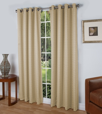 Spanish Steps Insulated Grommet Top Curtain Panel -Slate Blue - Close Out