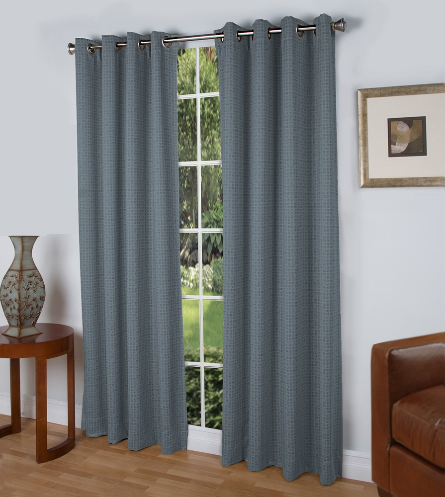 Spanish Steps Insulated Grommet Top Curtain Panel Slate