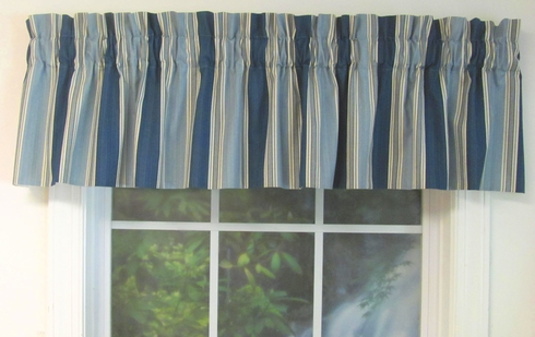 Spotswood Stripe Porcelain Tailored Valance - CLOSE OUT