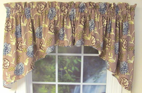 Corded Swag Valance -   Almost Custom - Custom Select