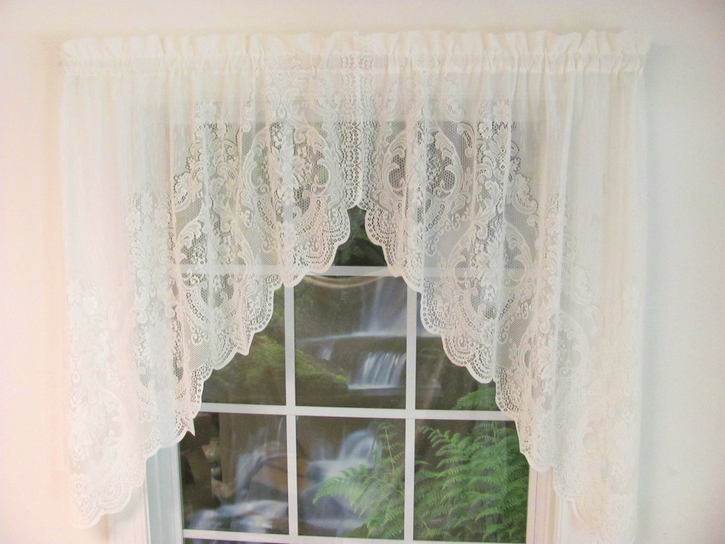 window p x lace to pair long expand vanessa valance treatment swag click