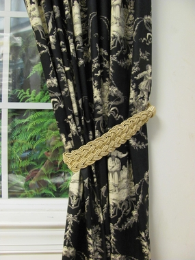 Sweet William Licorice  - Unlined Rod Pocket Panel - Close Out
