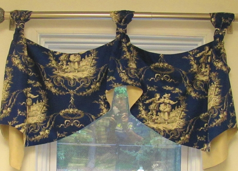 Sweet William Toile Royal Marcy Valance - CLOSING OUT