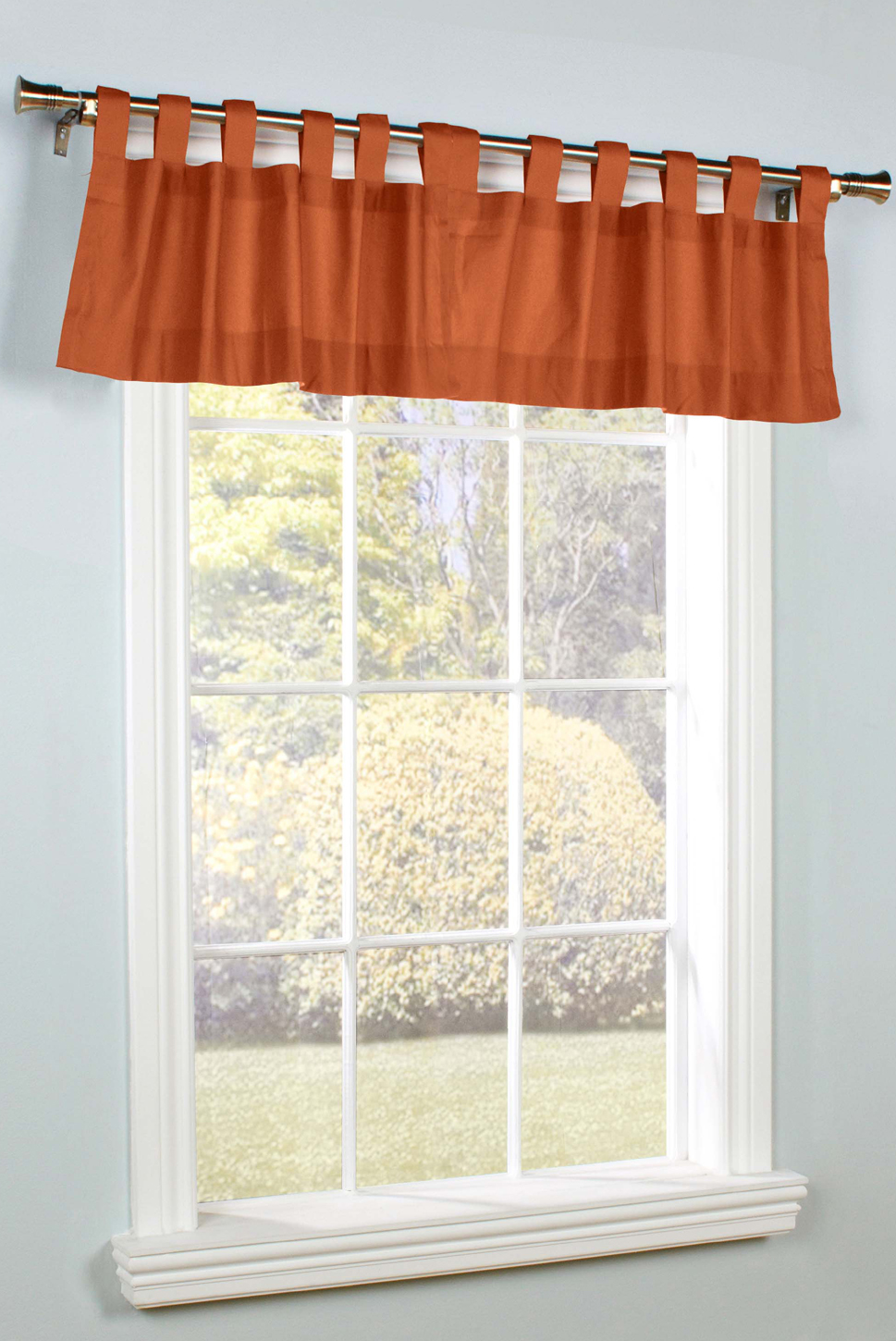 Weathermate Solid Color Tab Top Valance By Thermalogic