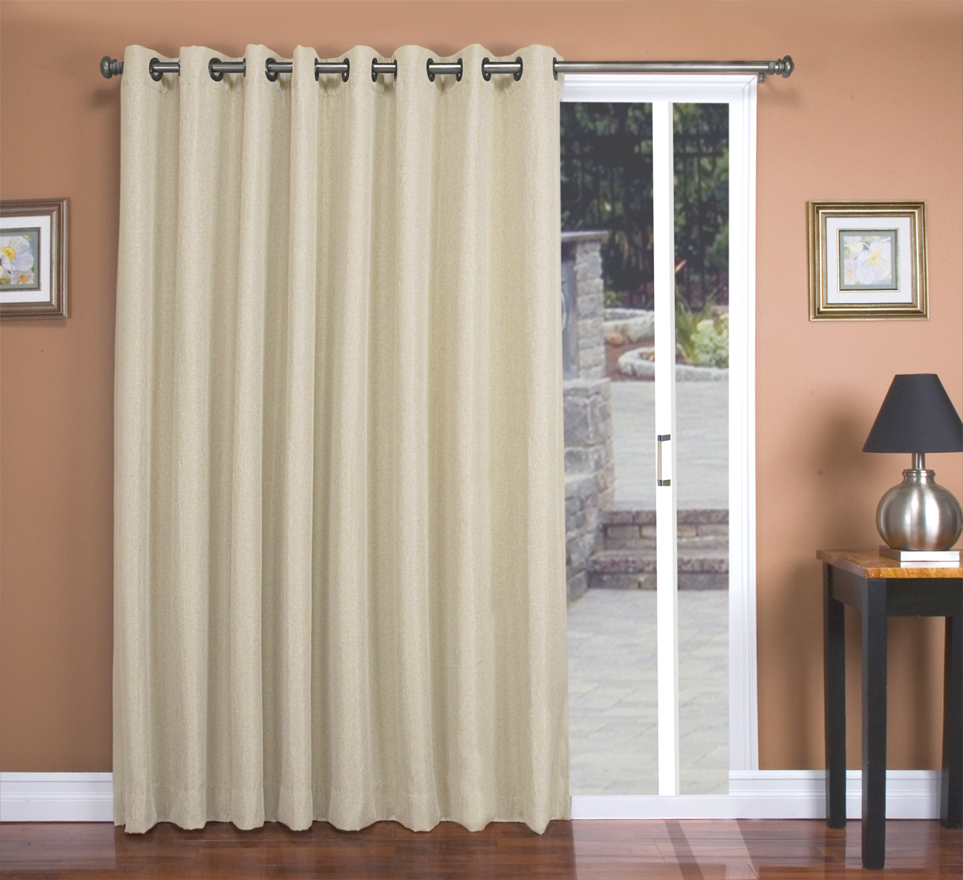 drapes sliding curtain curtains within deck home ideas of glass photos wooden patio redesign the pattern door rods with gallery and