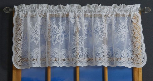 American Balmore Lace Tailored Valance  - Country Curtains