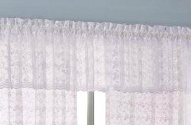 Tailored Valance - Priscilla Bridal Lace