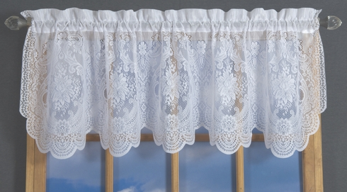 Vanessa Lace Tailored Valance - CLEARANCE