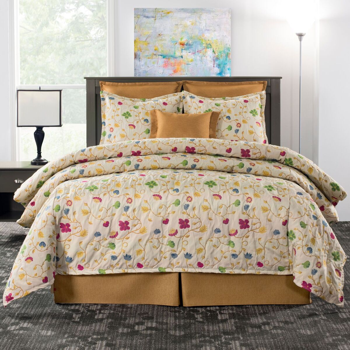 comforter set bedding curtain valance the curtain shop. Black Bedroom Furniture Sets. Home Design Ideas