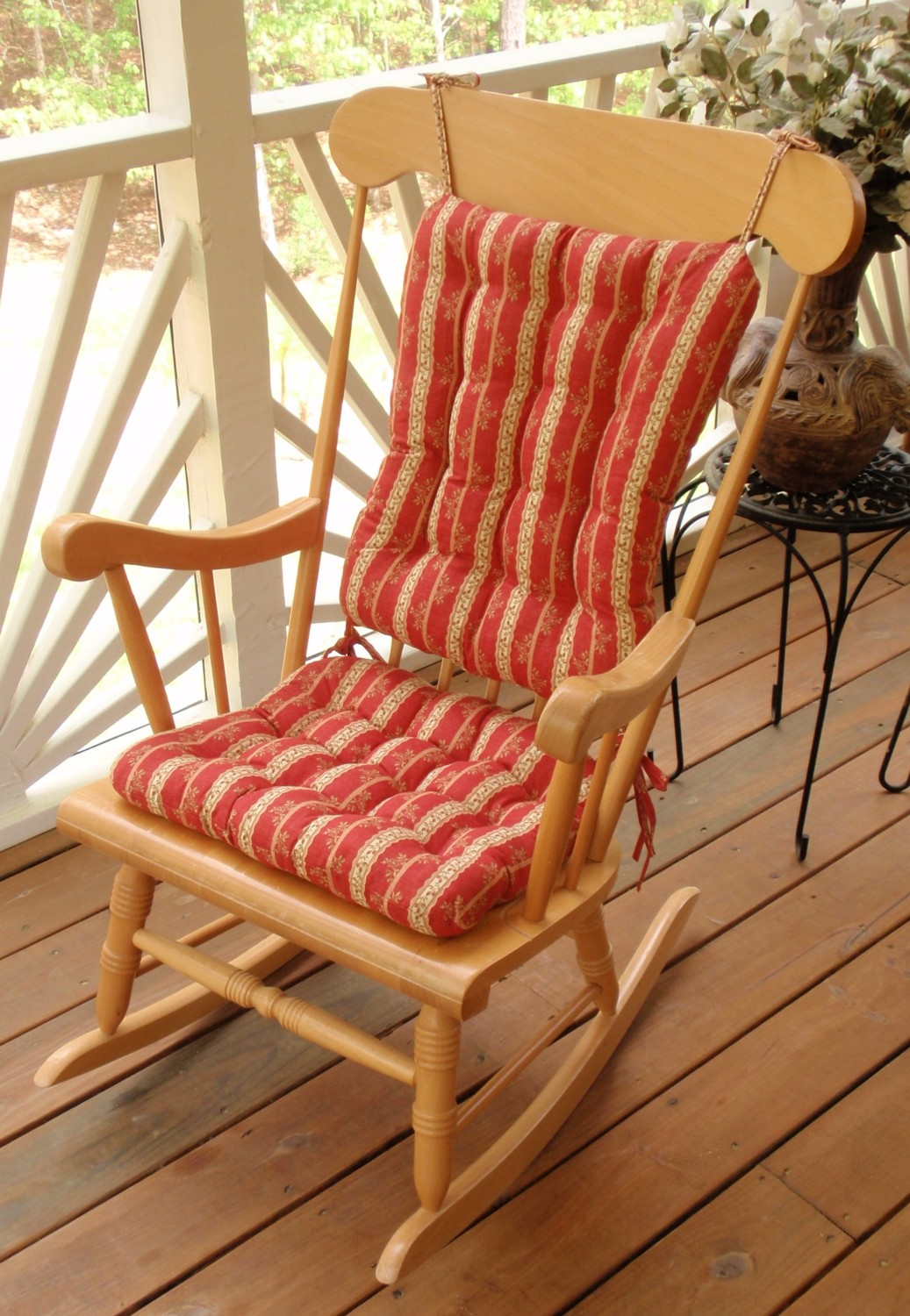 Perfect Tealane Stripe Rocking Chair Cushions (3 Colors)