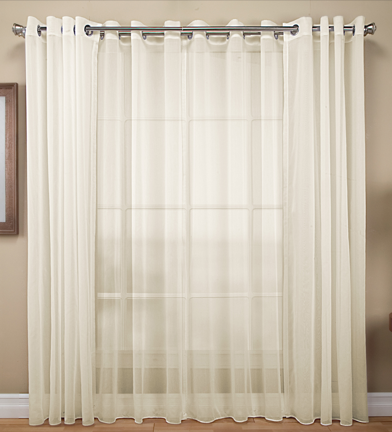 Sheer curtains with bronze grommets curtain menzilperdenet for Grommet curtains with sheers