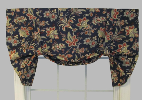 Barano Tie-Up Valance - Green  - CLOSING OUT