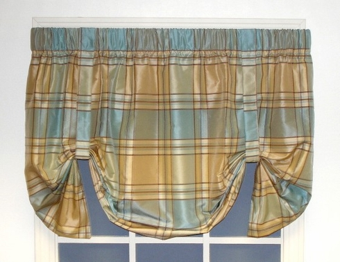 Burroughs Plaid Tie Up Valance  - CLOSING OUT
