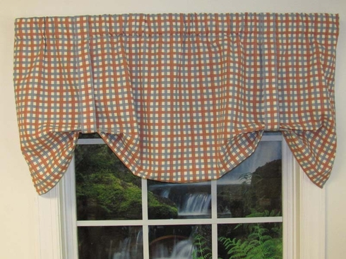 Tie-Up Valance - Charlestown Check - SOLD OUT