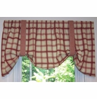 Tie-Up Valance - Logan Plaid