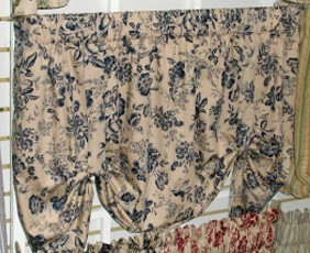 Palmer Toile - Tie Up Valance - CLOSING OUT