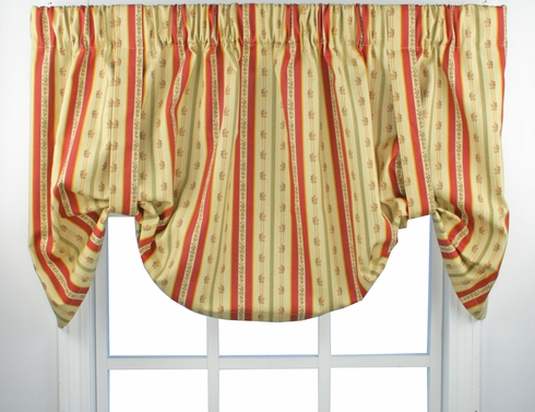 Suzanne Stripe Tie-Up Valance -  CLEARANCE
