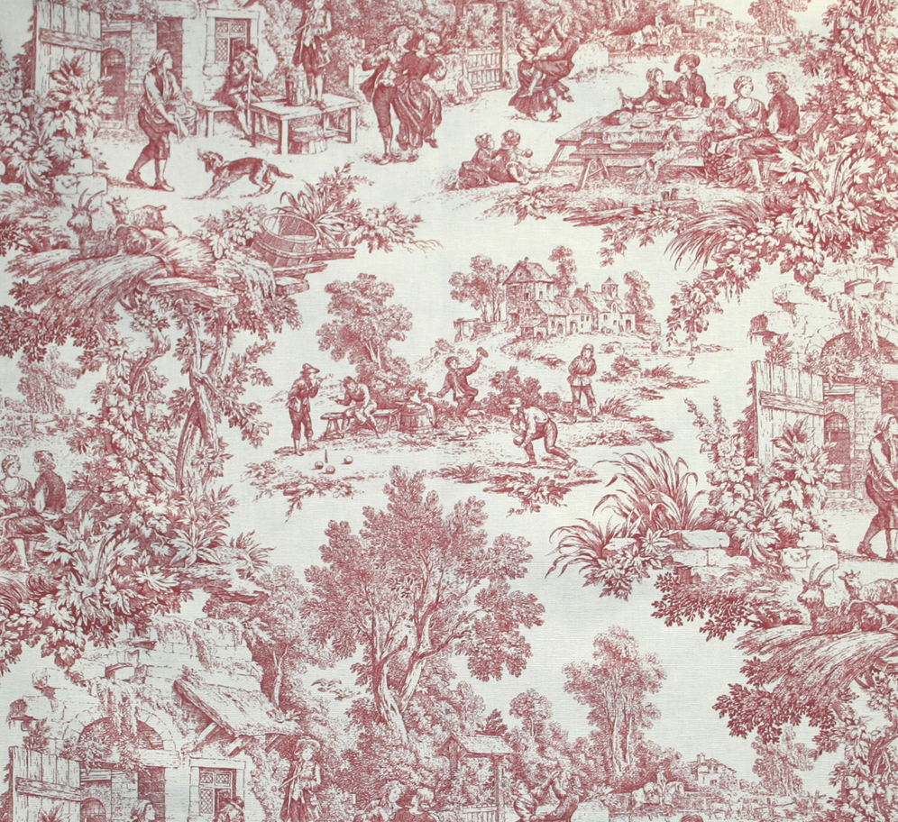 Victoria Park Toile Tie Up Valance Thecurtainshop Com