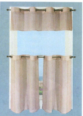 Tier Curtain (pair) - Bal Harbour Semi Sheer - CLEARANCE